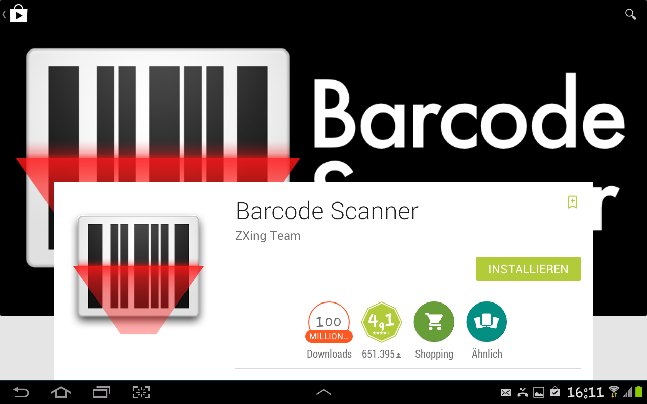 Barcodescanner App Android